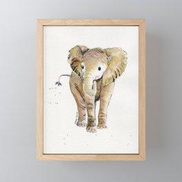 Baby Elephant 4 Framed Mini Art Print