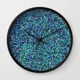 treemap mosaic - copper sulfate Wall Clock