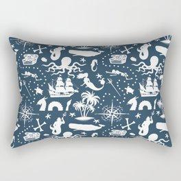High Seas Adventure on Navy Rectangular Pillow