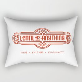 Lentil as Anything - Food, Culture, Community Rectangular Pillow