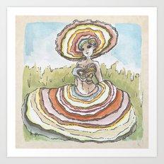 Empire of Mushrooms: Trametes versicolor Art Print