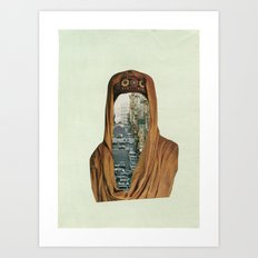 Traffic Goddess. Art Print