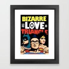 Bizarre Love Triangle: The Post-Punk Edition Framed Art Print