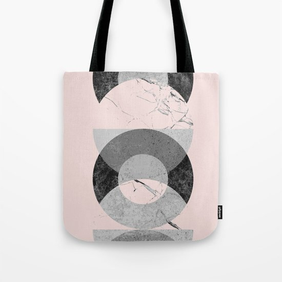 Circle geometric abstract art print Tote Bag
