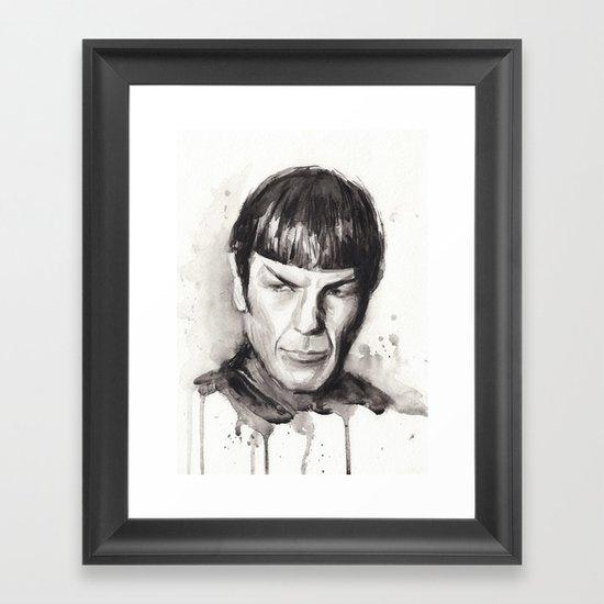 Spock Star Trek Framed Art Print