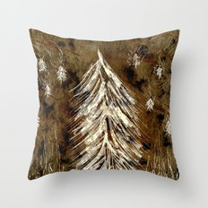 Dawn In A Burning Forest Throw Pillow