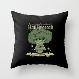 Hail Broccoli Throw Pillow