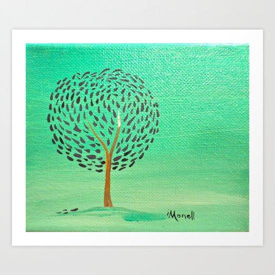 simple green Art Print