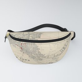 Map Of Capetown 1897 Fanny Pack