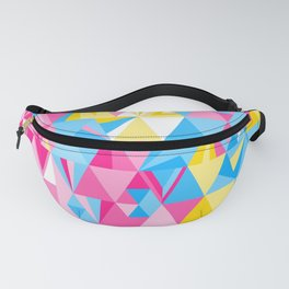 Polygonal Geometric in Pansexual Pride • Modern Triangle Pattern Fanny Pack