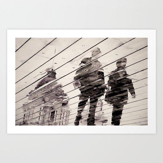 Rainy Day on the Promenade Art Print