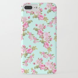 Pink & Mint Green Floral iPhone Case