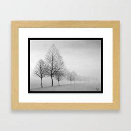 Fading Trees Framed Art Print
