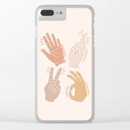 I Don't Know What to Do With My Hands Clear iPhone Case