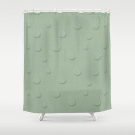 Spring Raindrops Norway Shower Curtain