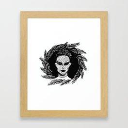 """Inktober, Day 11 """"Cruel"""" #inktober #inktober2018 Framed Art Print"""