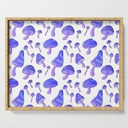 Blue Mushrooms Serving Tray