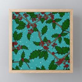 Boughs of Holly Framed Mini Art Print
