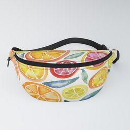 Sliced Citrus Watercolor Fanny Pack