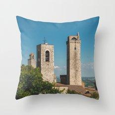 san gimignano, italy Throw Pillow