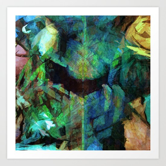 There are some spirits in my blurred memories Art Print