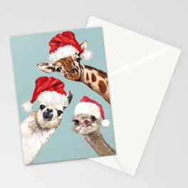 Christmas Animals Gang Stationery Cards