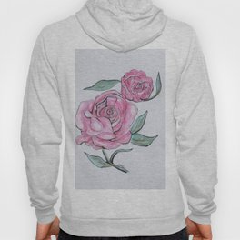 Pretty And Pink Roses Hoody
