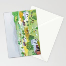 Anna Mary Robertson 'Grandma' Moses Mountains American Folk Art Stationery Cards