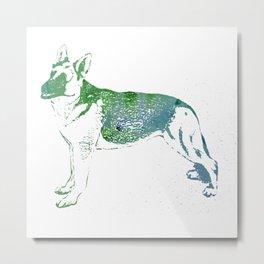 Watercolor German Shepherd Metal Print
