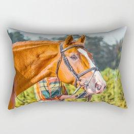 Horse head photo closeup Rectangular Pillow