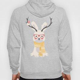 White rabbit Christmas pattern 001 Hoody