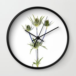 Milk Thistle Wall Clock