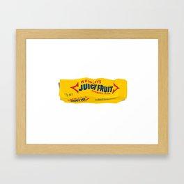 Discarded gum wrapper Framed Art Print