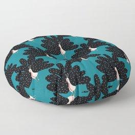 Art Deco Peafowl Floor Pillow