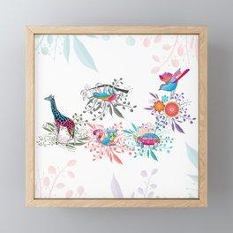 Spring Animals Jungle Safari Framed Mini Art Print