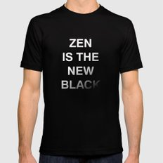 Zen is the new black MEDIUM Black Mens Fitted Tee