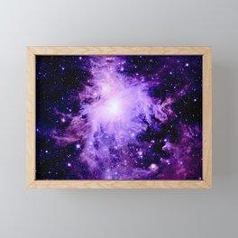 Orion nebUla. : Purple Galaxy Framed Mini Art Print