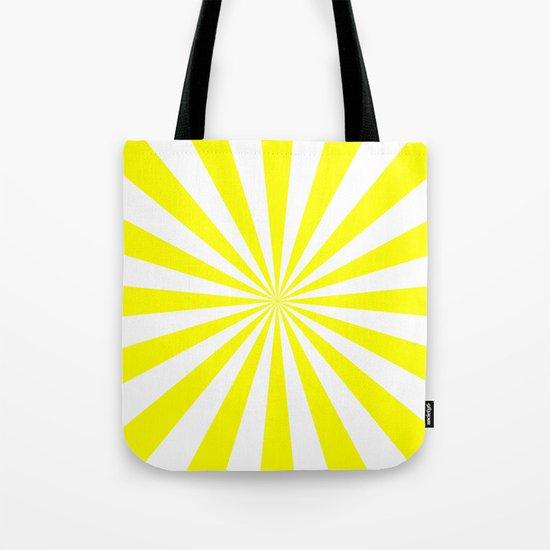 Starburst (Yellow/White) Tote Bag
