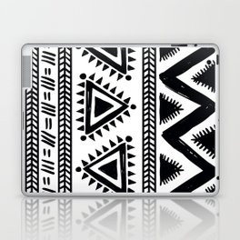 Tribal black and white Laptop & iPad Skin
