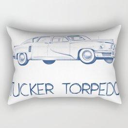 Pen drawing Tucker Torpedo Rectangular Pillow