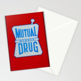 Mutual Drug Sign Stationery Cards