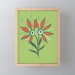 Cute Eyes Flower Monster Framed Mini Art Print