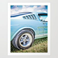 1966 Ford Mustang Fastback Car Art Print