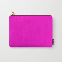 Fluorescent neon pink | Solid Colour Carry-All Pouch
