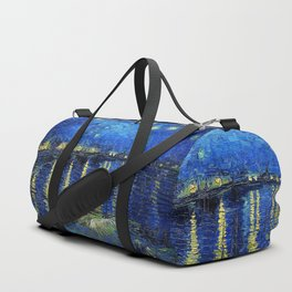 Starry Night Over the Rhone by Vincent van Gogh Duffle Bag