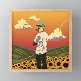 Tyler, Flower Boy Framed Mini Art Print