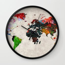 World Map 56 Wall Clock