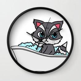 Bathtub cat Wall Clock
