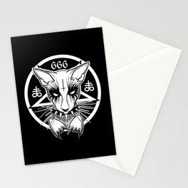 Black Metal Cat Stationery Cards