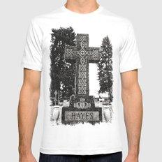 Cemetery Celtic cross MEDIUM Mens Fitted Tee White